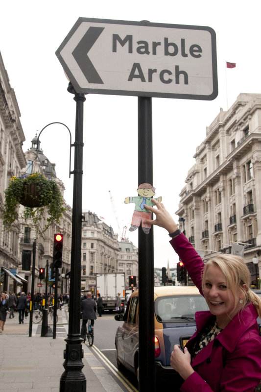 Susanna and Flat Stanley in London