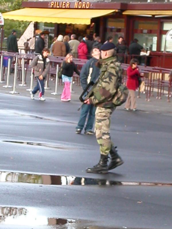 Eiffel tower security guard