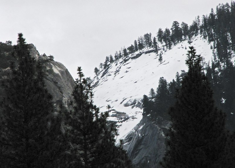 Half Domes left, snowy section (Winter 2012). #2342