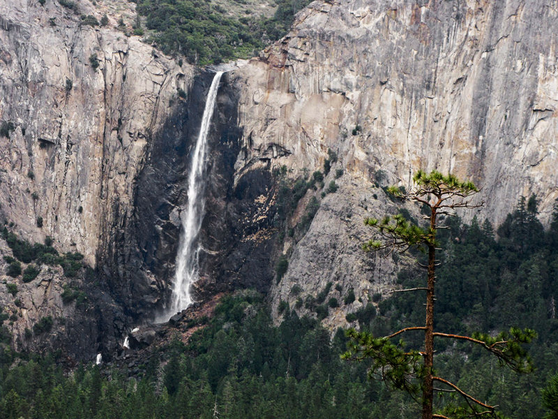 Bridalveil Fall from Tunnel View, Day 1, SX10. #2157