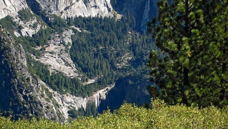 Looking way down across from a somewhat-dry Yosemite Falls. #2824