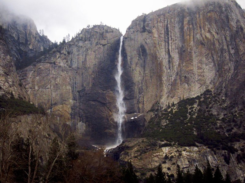 Last view from Valley-tour bus - Yosemite Falls, Day 1. #3508
