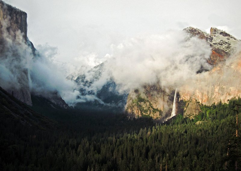 Clearing storm, Cathedral Rocks, El Capitan -Tunnel View, 6:59 pm. S95. #4568