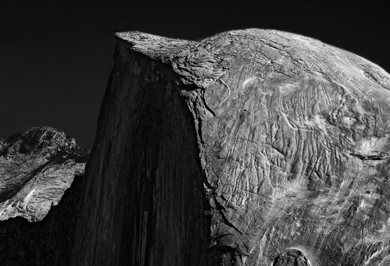 Half Dome, converted to b&w (Fall 2011) #1787bw