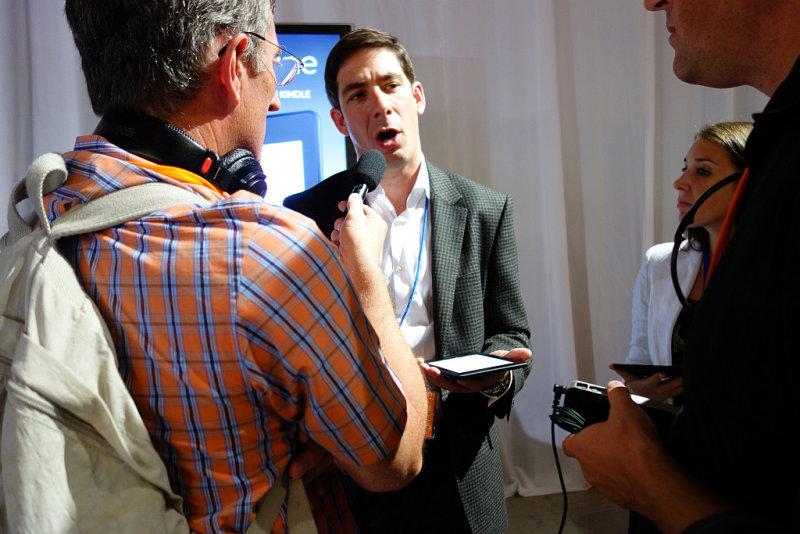 Len Edgerly <a href=http://bit.ly/tkchron target=_blank><u>interviews</u></a> Kindle VP Jay Marine. #00934