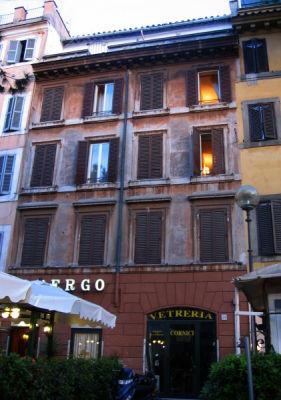 We stayed at Hotel  Romano -  Albergo Romano,  shown here.