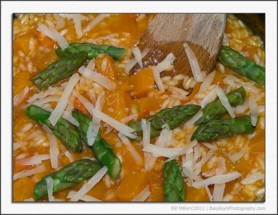 Butternut Squash and Asparagus Risotto