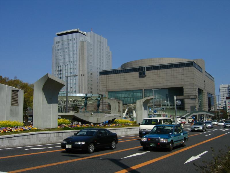 Aichi Arts Center along Sakura-dori