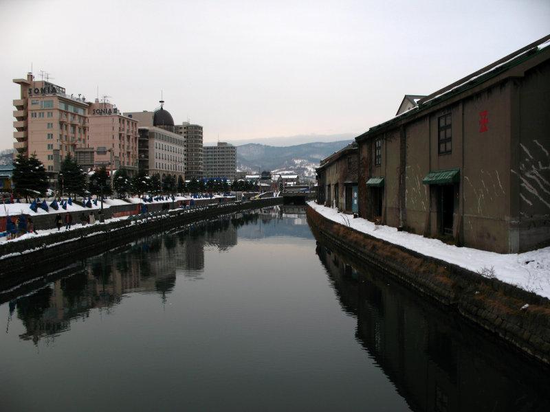 Otaru Canal and adjacent hotels