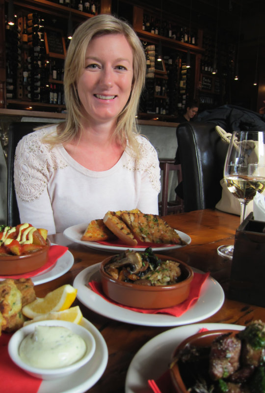 Sharing Tapas at Didas in Jervoise Rd, Ponsonby