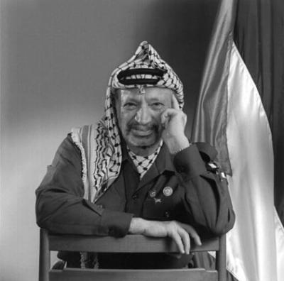 Portrait of P.L.O. leader Yasser Arafat