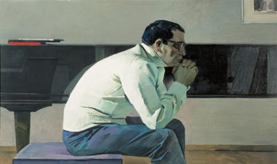 Portrait of Soviet composer Kara Karaev by Tair Salahov, 1960