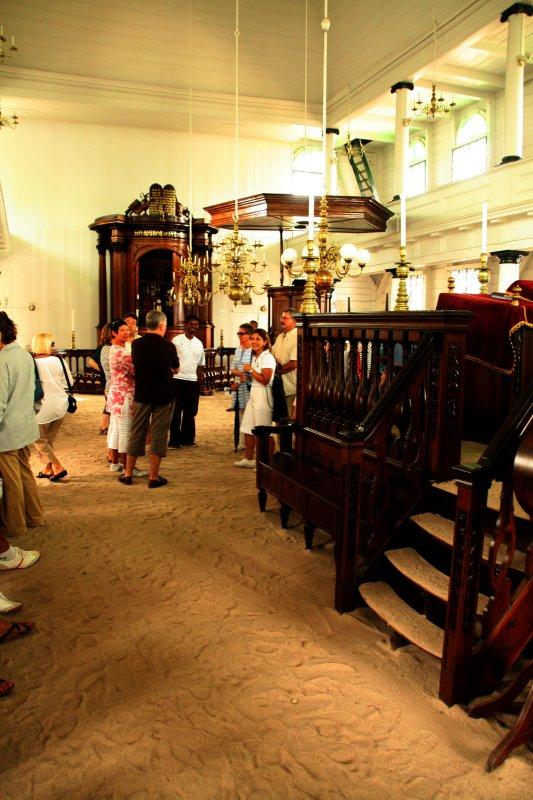 Interior of the Synagoge Ne Ve Shalom.