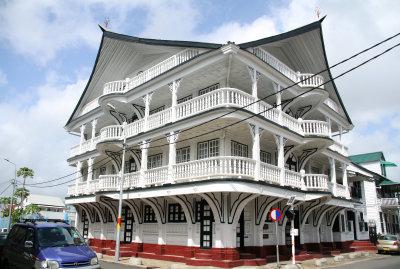 Wooden building of the historical city center - Houten gebouw in het historisch stadscentrum