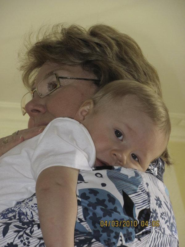 Grandma Cheryl and Cortland