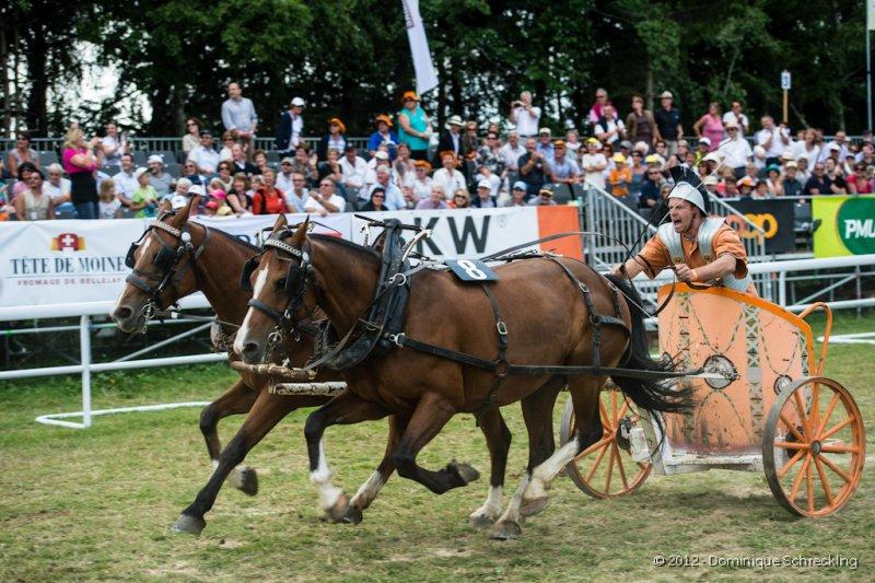 Course de chars romains, 2 chevaux