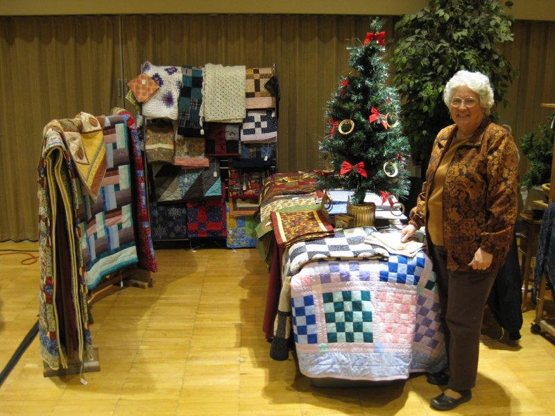 Linda Hales of Rigby selling her handmade items at ISU Holiday Crafts Fair IMG_0256.jpg