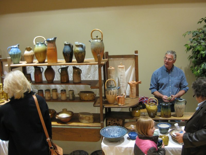 Phil Jenkins selling his and his wifes ceramics at ISU Holiday Crafts Fair IMG_0271.jpg