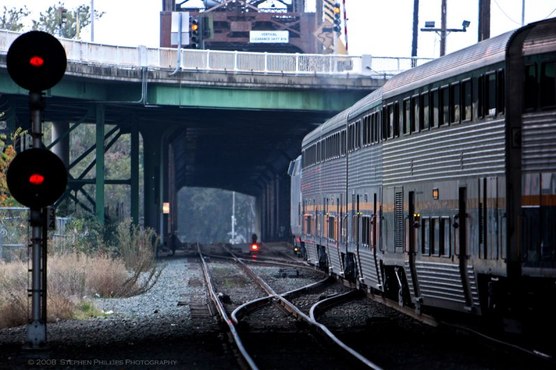 Train Leavng Sacramento