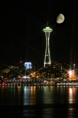 Moon over Seattle