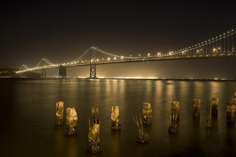 Bridge and old pilings