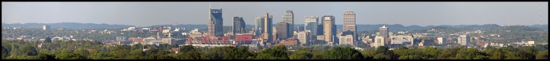 Nashville, Tennessee from the Inglewood Neighborhood
