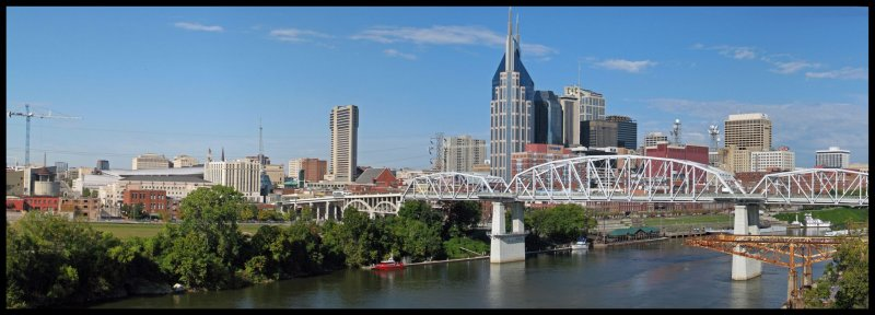 Nashville from the Gateway Bridge