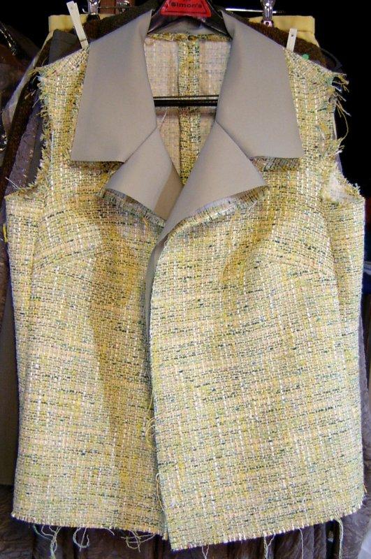 Green Tweed Jacket Shell
