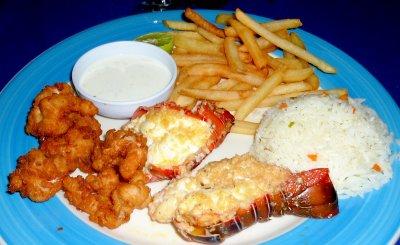 Breaded Shrimp & Garlic Lobster