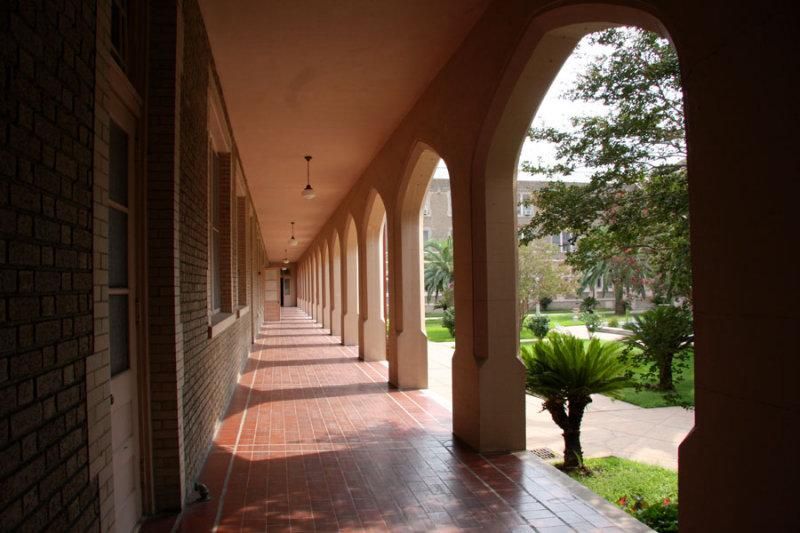 Ursuline Sisters Gallery Overlooking Courtyard
