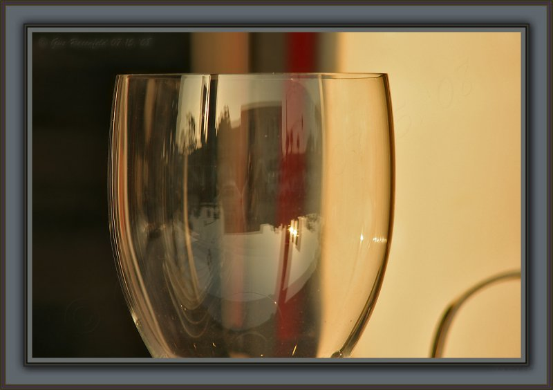 Wine Glass Set To Sale At Sunset