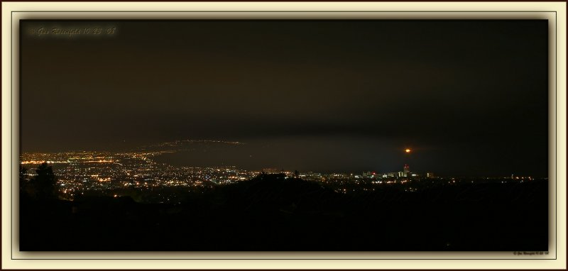Inversion Layered Bifurcation Of Smoke Across Santa Monica Bay From Early Morning Fire By Getty Museum