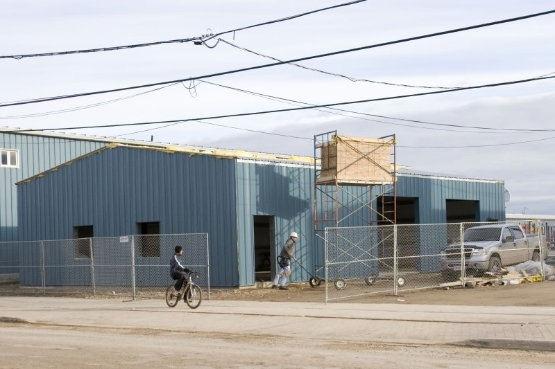 New maintenance building at Moosonee Public School