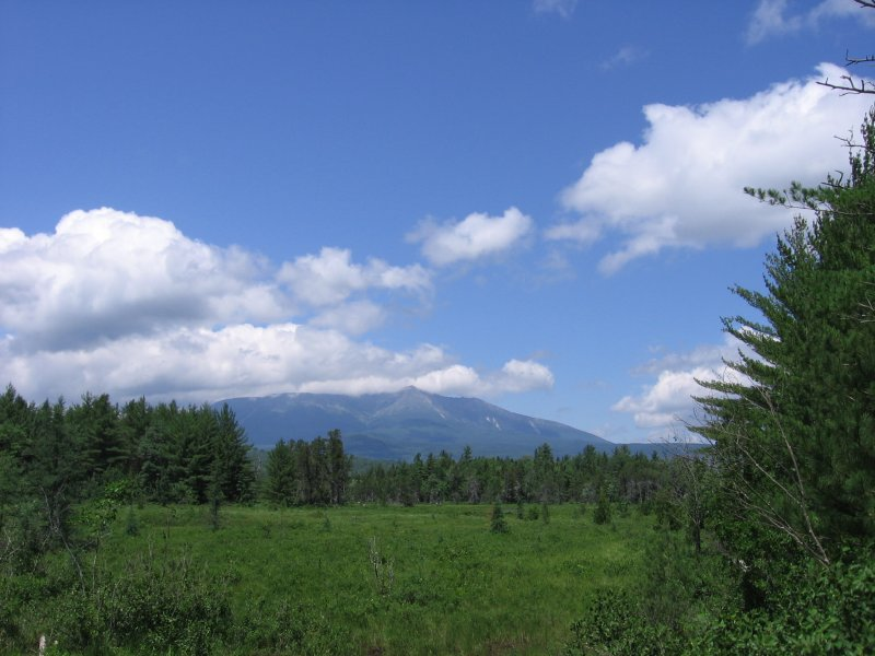 Katahdin from Wetlands on the Golden Road