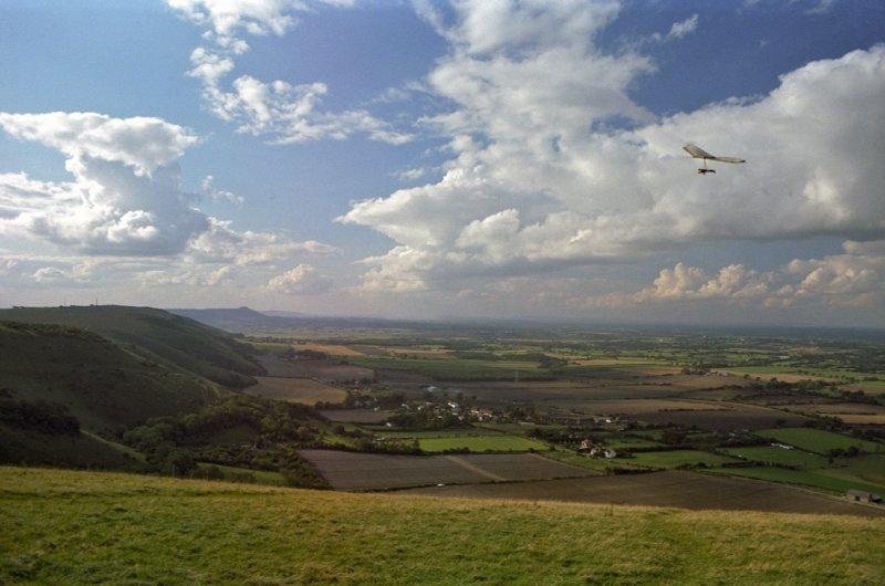 hang gliders at Devils Dyke