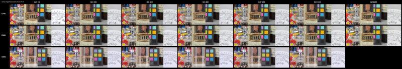 Nikon D700 D300 D200 ISO100-6400 comparison