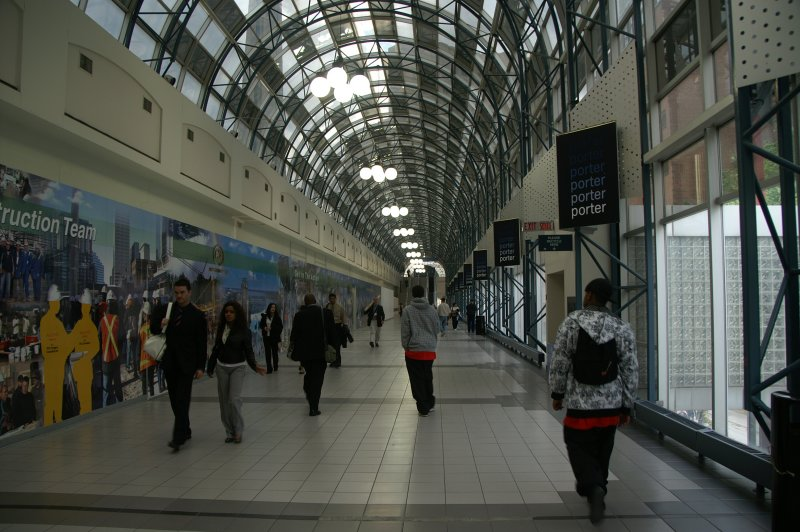 Skywalk to CN-Tower