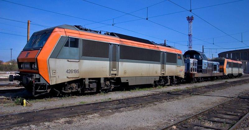 The BB26195 resting at Avignon depot.