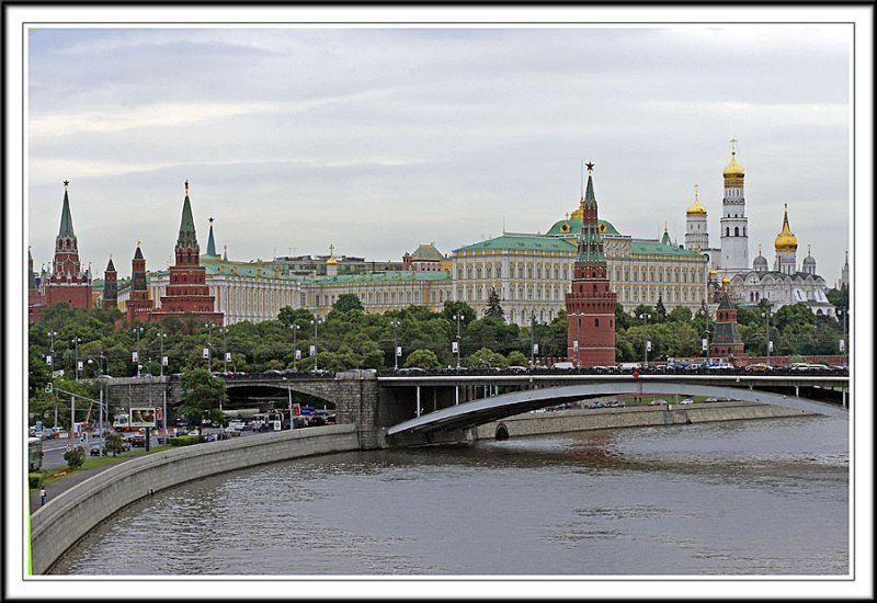 Kremlin Towers and Moscow River
