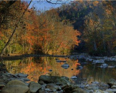 Buffalo River Color at Big Hollow
