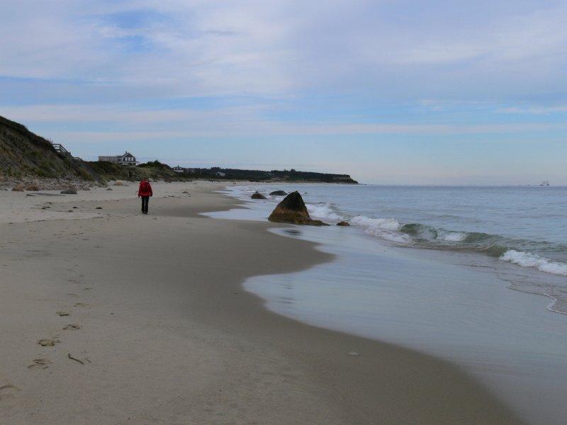 Crescent Beach on Columbus Day