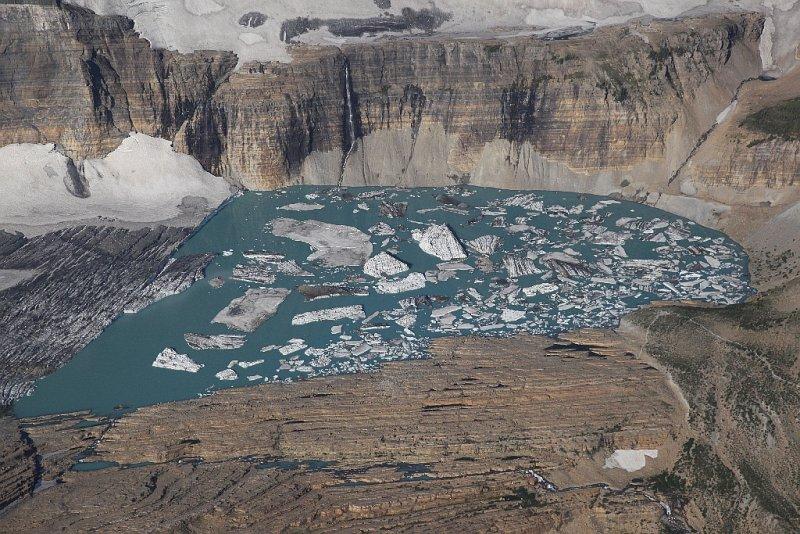 Grinnell Glacier  <br> & Upper Grinnell Lake <br> (GlacierNP090109-_387.jpg)