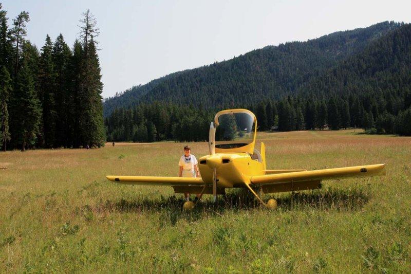 Selway-Bitterroot Wilderness:  Moose Creek Airstrip <br> (MtFlt070708-1028.jpg)