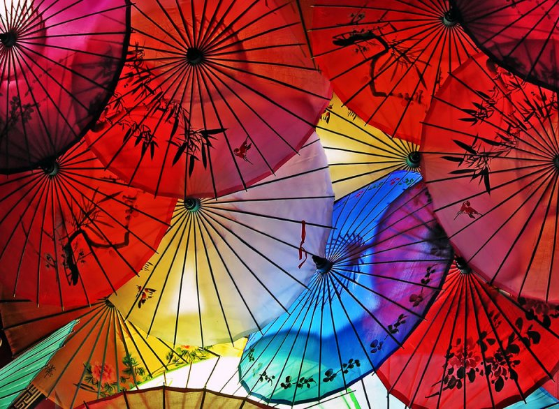 Night Umbrellas