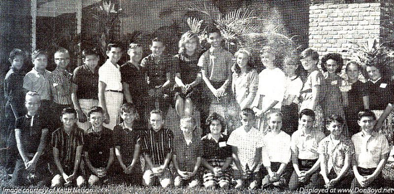 1963 - Mrs. Crawley and the 5th Grade Field Day Champions at Dr. John G. DuPuis Elementary School in Hialeah