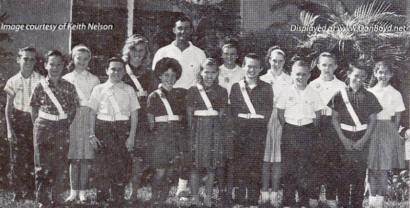 1963-1964 - Mr. Del Rio and the Safety Patrol at Dr. .John G. DuPuis Elementary School in Hialeah