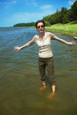 BARBARA IN LAKE HURON--POINTE AUX BARQUES LIGHTHOUSE
