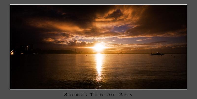 Sunrise Through Rain