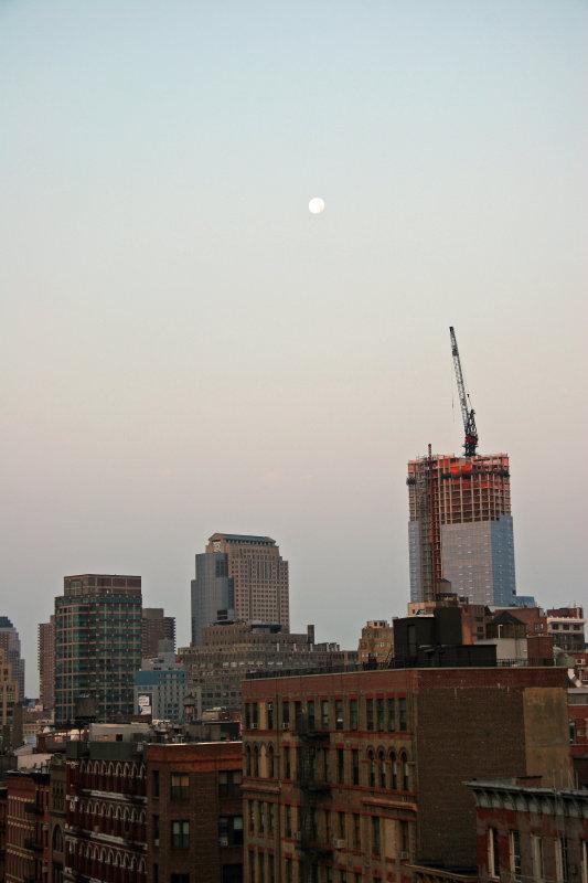 Sunrise & Full Moon - Downtown Manhattan
