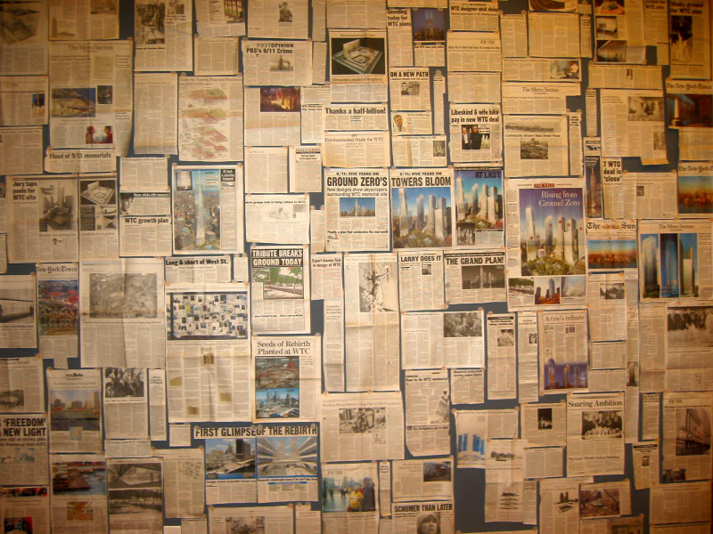 Ground Zero Newspaper Clippings - American Institute of Architecture NYC Chapter